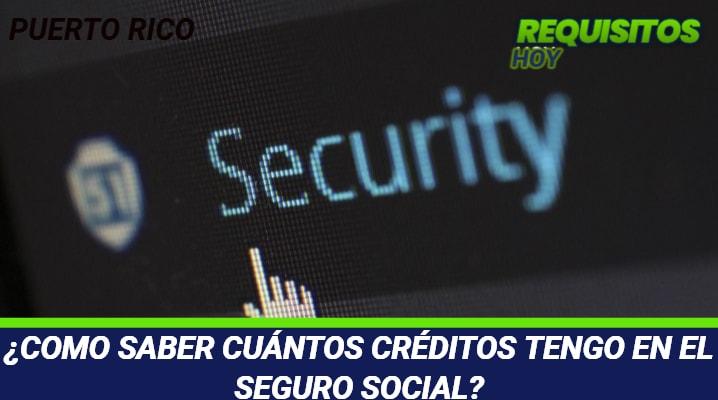 COMO SABER CUANTOS CREDITOS TENGO ENE L SEGURO SOCIAL