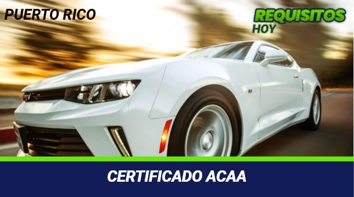Certificado ACAA