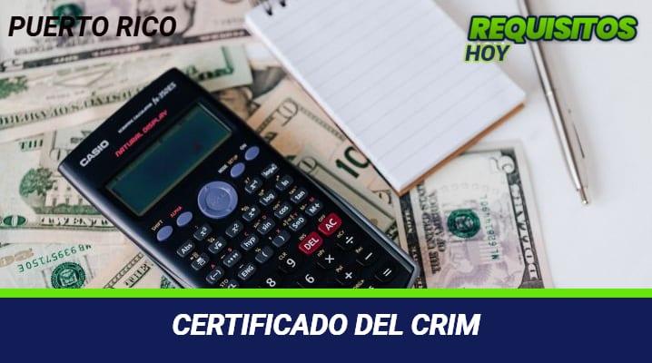 Certificado del crim
