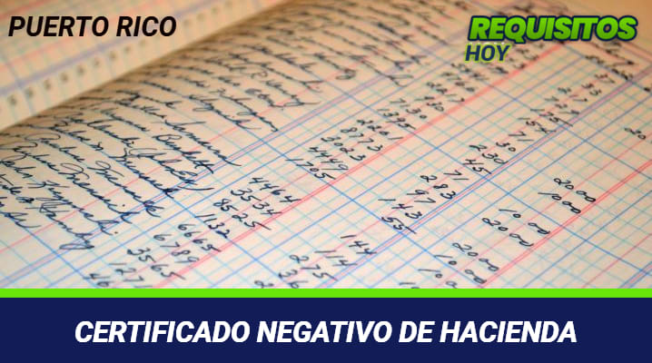 Certificado negativo de hacienda