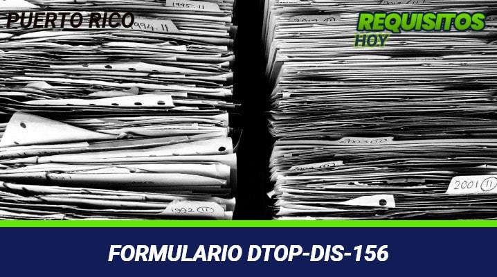 Formulario-DTOP-DIS-156