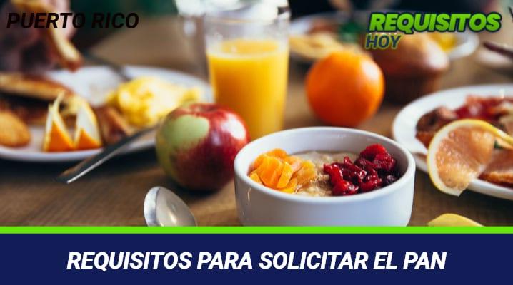 REQUISITOS PARA SOLICITAR EL PAN