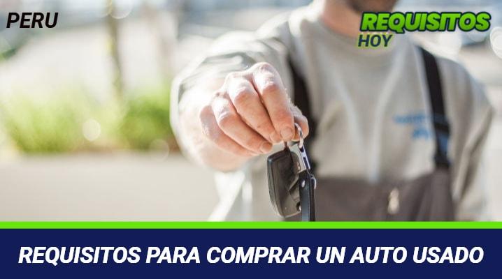 Requisitos para comprar un auto usado
