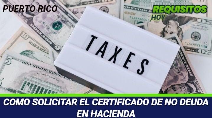 Certificado no deuda hacienda