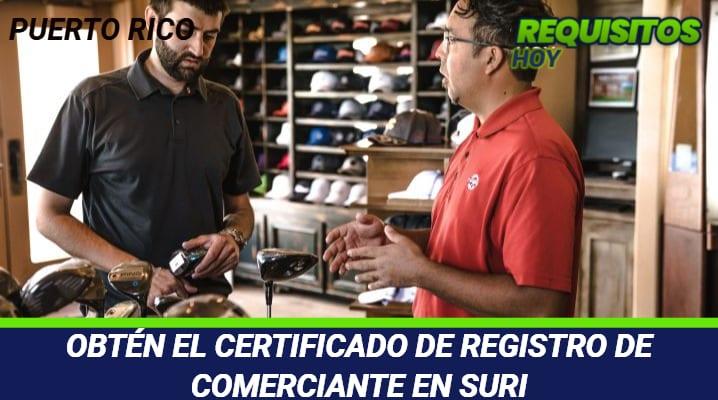 Certificado de registro de comerciante