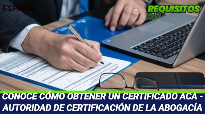 Certificado ACA