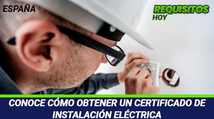 Certificado Instalación Eléctrica