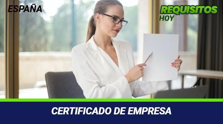 Certificado de Empresa