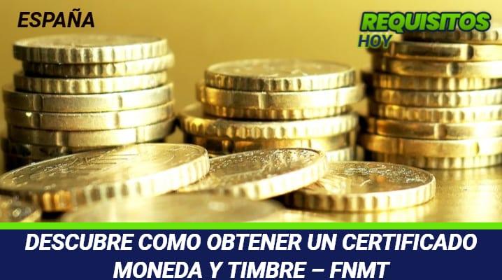 Certificado Moneda y Timbre