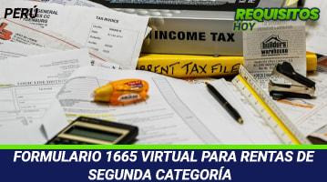 Formulario 1665 Virtual Para Rentas De Segunda Categoría