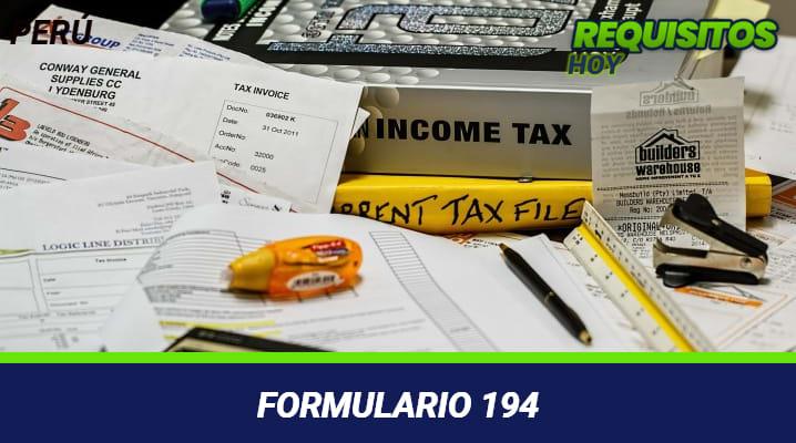 Formulario 194