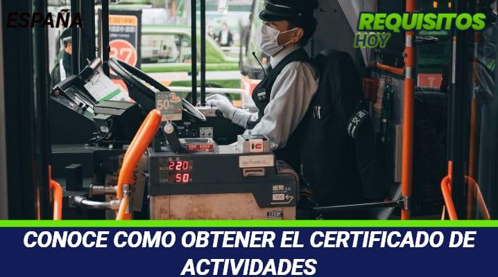 Certificado de Actividades