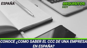 Cómo saber el CCC de una empresa