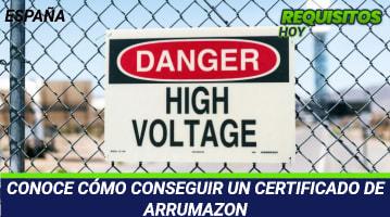 Certificado de Arrumazon