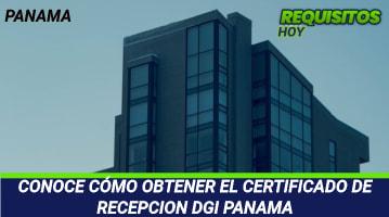 Certificado de Recepción DGI Panamá