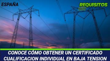 Certificado de Cualificación Individual en Baja Tensión