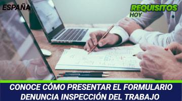 Formulario Denuncia Inspección del Trabajo