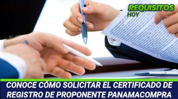 Certificado de Registro de Proponente Panamacompra