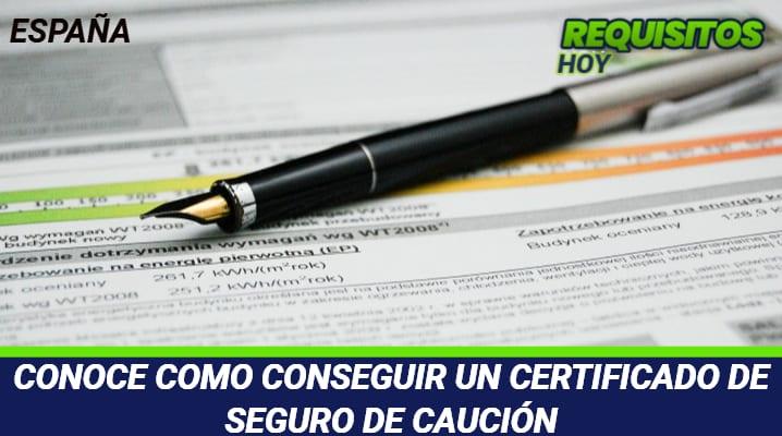 Certificado de Seguro de Caución