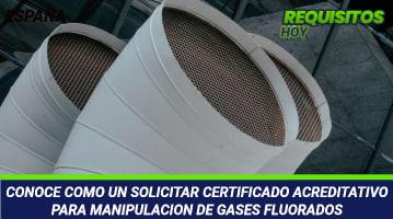 Certificado acreditativo para Manipulación de Gases Fluorados