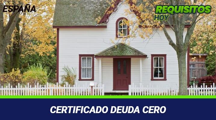 Certificado Deuda Cero