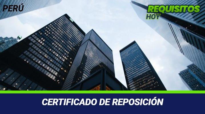 Certificado de Reposición
