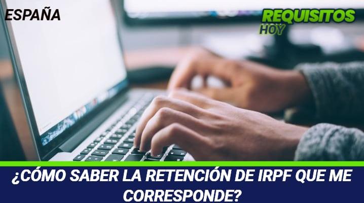 Como saber la retención de IRPF que me corresponde
