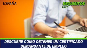 Certificado Demandante de Empleo