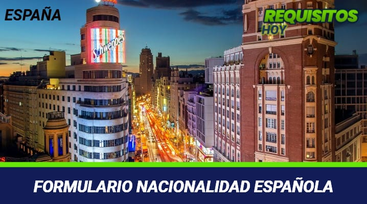 Formulario Nacionalidad Española