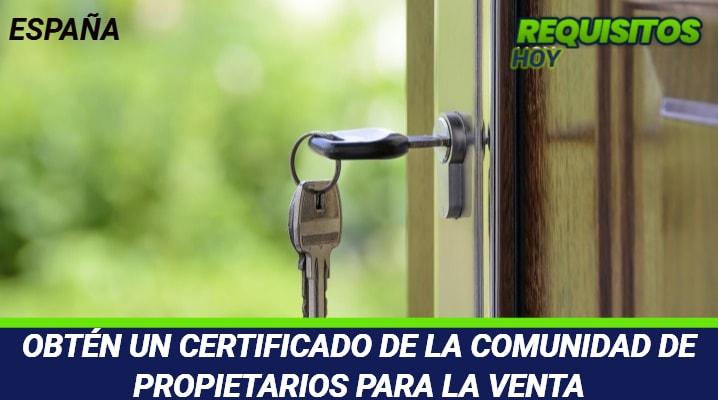 Certificado de la Comunidad de Propietarios