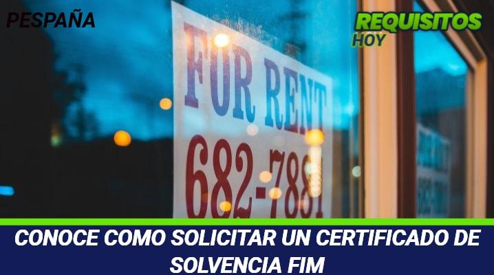 Certificado de Solvencia FIM