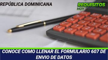 CONOCE COMO LLENAR EL FORMULARIO 607 DE ENVIO DE DATOS