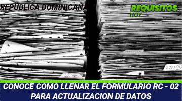 Formulario RC-02