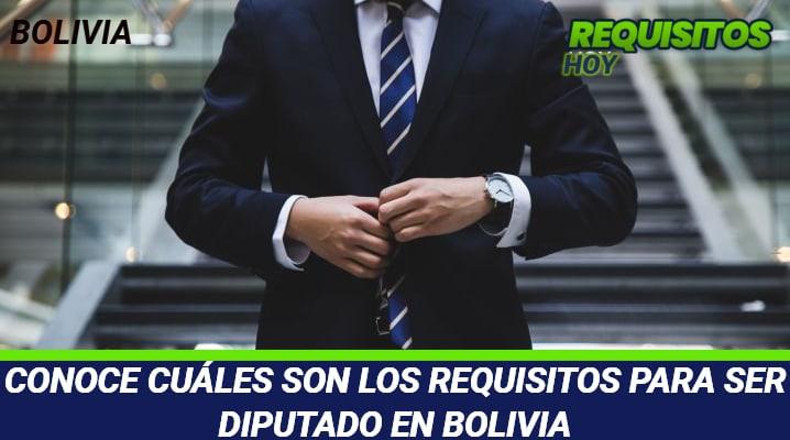 Requisitos para ser Diputado en Bolivia