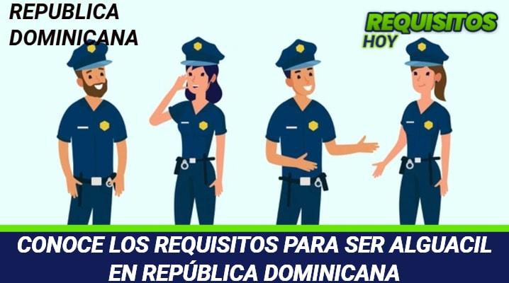 Requisitos para ser Alguacil