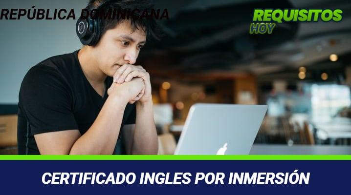 Certificado Ingles por Inmersión