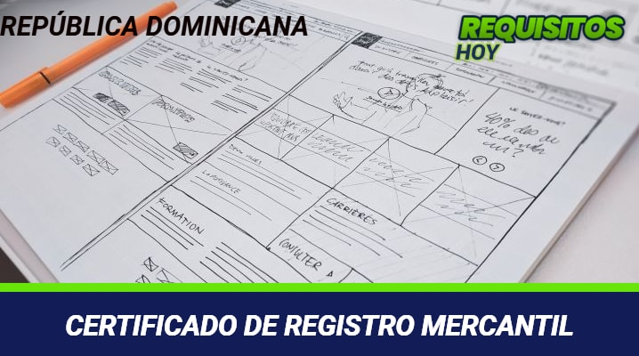 Certificado de Registro Mercantil