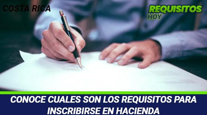 Requisitos para inscribirse en Hacienda