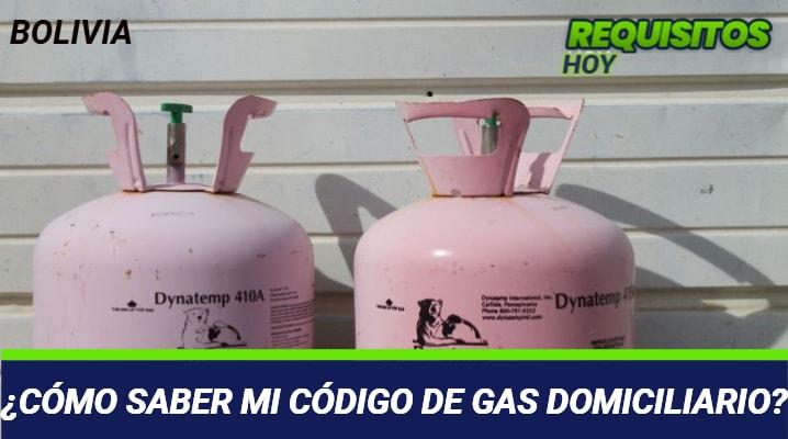 Como saber mi Código de Gas domiciliario