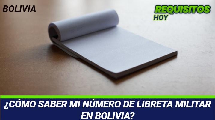 Como saber mi Número de Libreta Militar Bolivia
