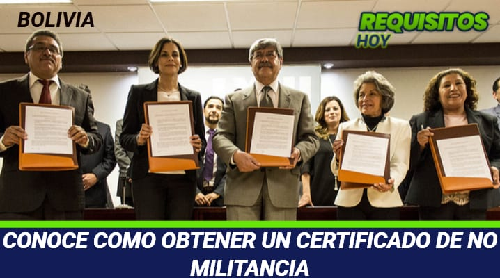 Certificado de No Militancia