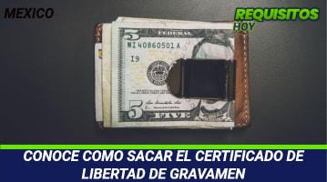 Certificado de Libertad de Gravamen