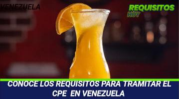 Requisitos para tramitar el CPE en Venezuela