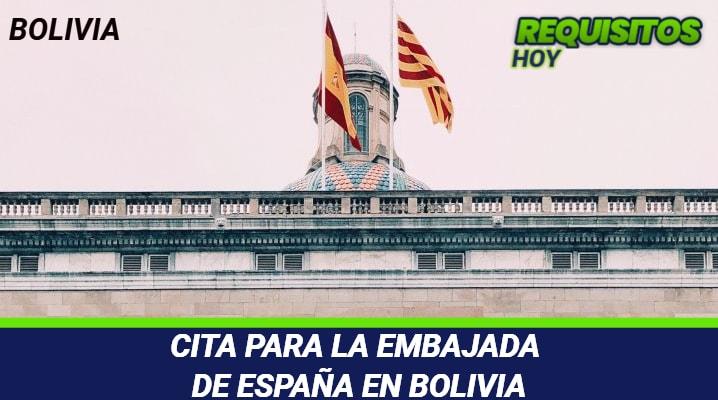 Cita para la Embajada de España en Bolivia