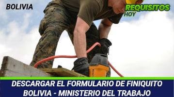 Formulario de Finiquito Bolivia