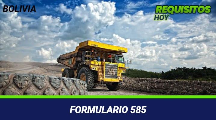 Formulario 585