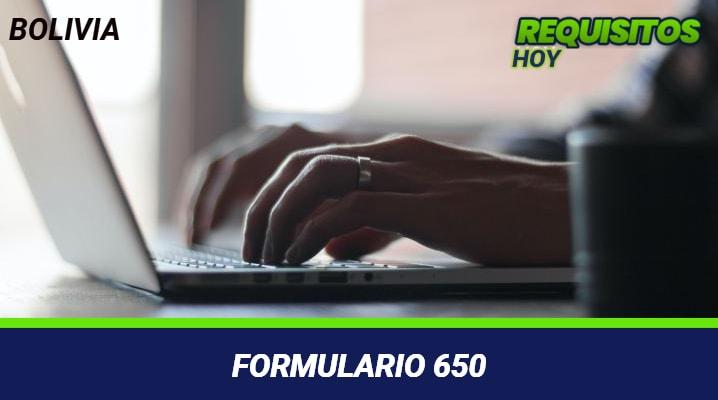 Formulario 650