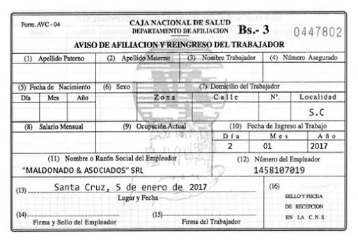 Llenar Formulario Avc-04 Caja Nacional de Salud PDF ▷【2021 】