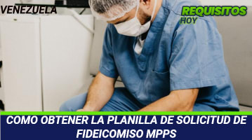 Planilla de solicitud de fideicomiso MPPS