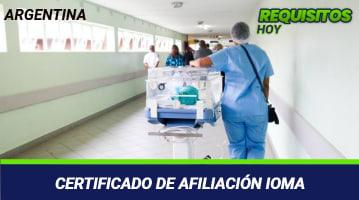 Certificado de Afiliación IOMA